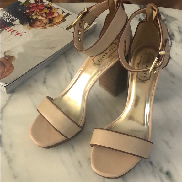 High Sandals Baker Heeled Ted Nude nw80mN